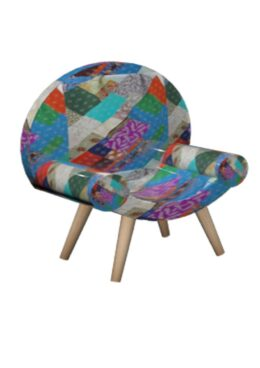 Kantha Patchwork Upholstered Chair