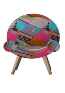 Kantha Patch Upholstered Chair