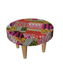 Patchwork Kantha Wooden Stool