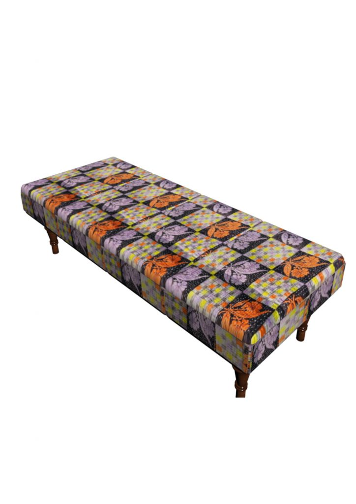 Stool Bedside Table: Vintage Kantha Bedside Table Stool