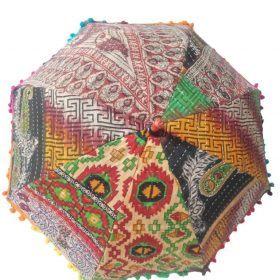 Indian Decor Kantha Umbrella
