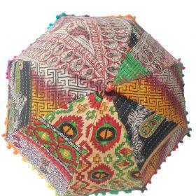 Indian Decor Kantha Umbrella