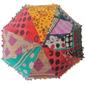 Kantha Parasol Patchwork Quilted