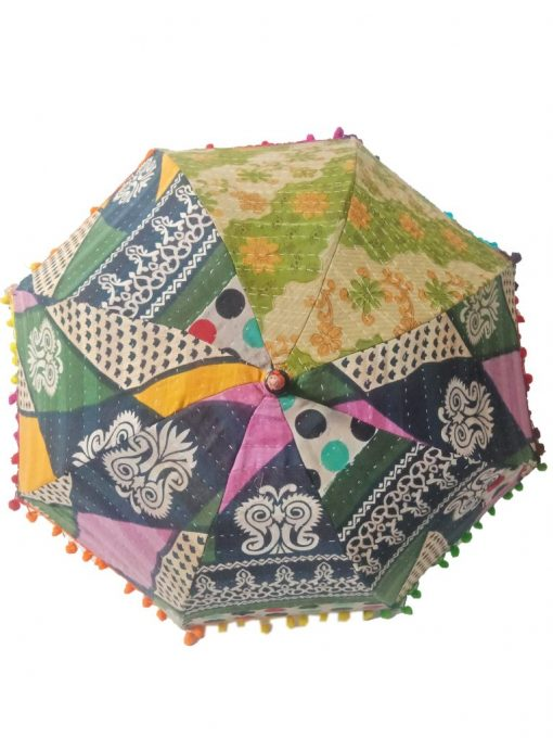 Traditional Kantha Umbrella Parasol