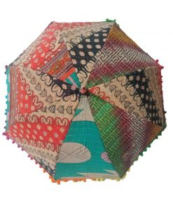 Cotton Kantha Umbrella Sunshade