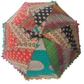 Cotton Kantha Umbrella Sunshade