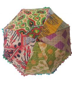Decor Indian Kantha Umbrella