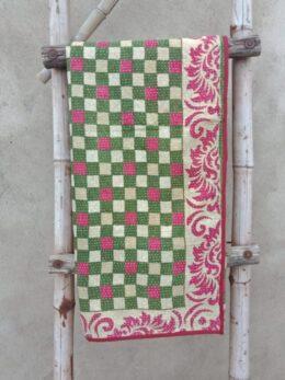 Checkerboard Baby Kantha Quilt