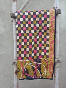Checkerboard Vintage Baby Quilt
