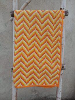 Zigzag Paisley Baby Quilt