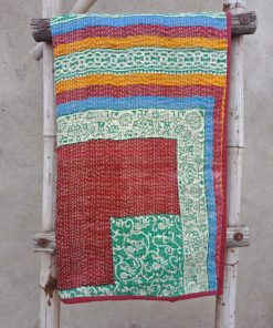 Peacock Baby Kantha Quilt