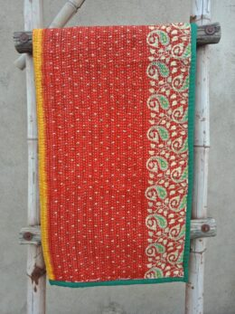 Floral Baby Kantha Quilt