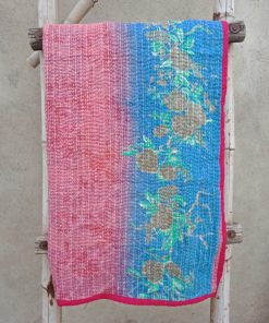 Floral Cotton Baby Kantha Quilt