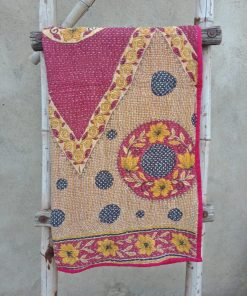 Floral Handmade Baby Kantha Quilt
