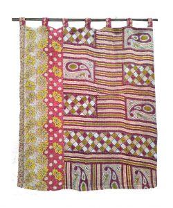 Bohemian Indian Kantha Curtain