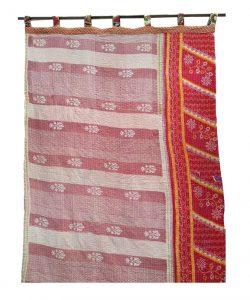 Bohemian Floral Kantha Curtain