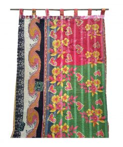 Bohemian Cotton Kantha Curtain