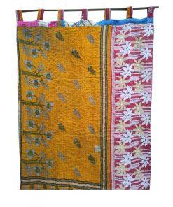 Vintage Handmade Kantha Curtain