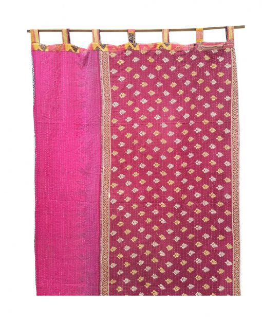 Vintage Indian Kantha Curtain