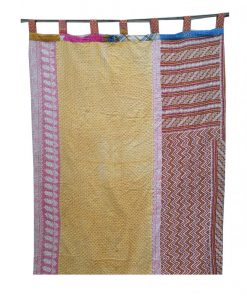 Reversible Bohemian Kantha Curtain