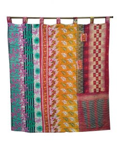 Reversible Indian Kantha Curtain