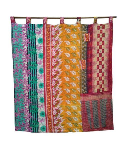 Reversible Indian Kantha Curtain