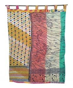 Reversible Handmade Kantha Curtain