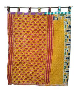 Kantha Quilt Reversible Curtain