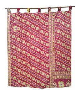 Vintage Kantha Quilt Curtain