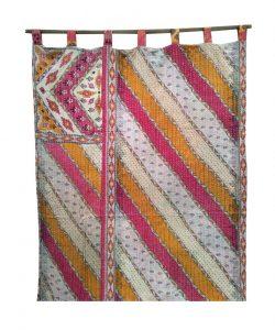 Kantha Quilt Curtain Reversible