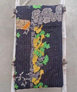 Circular Vintage Kantha Quilt