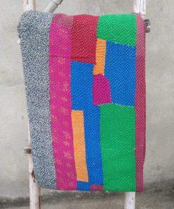 Patchwork 6 layered Vintage Kantha Throw