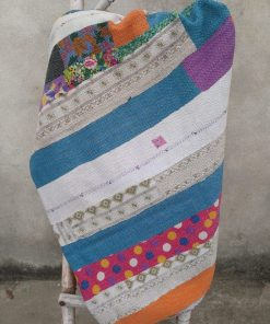 heavy Indian Kantha Quilt 6 layered