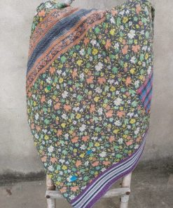floral heavy 6 layered kantha