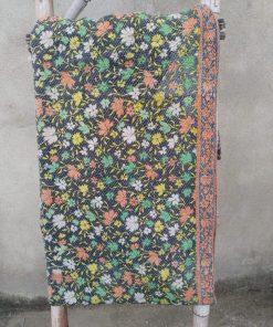 6 layered Floral Vintage Kantha Quilt
