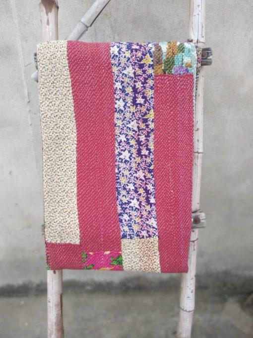 Exclusive 6 layered Indian Kantha Throw