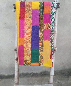 6 layered Indian Vintage Kantha Quilt