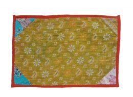 Handmade Kantha Quilt Placemats Set