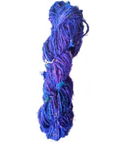 Blue Recycled Silk Sari Yarn