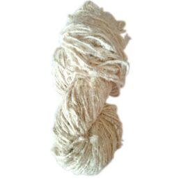 Undyed White Recycled Yarn