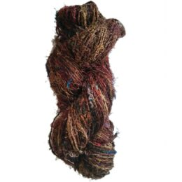 Brown Recycled Silk Sari Yarn