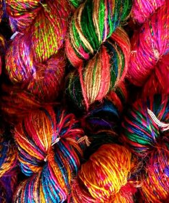 Recycled Silk Sari Yarn