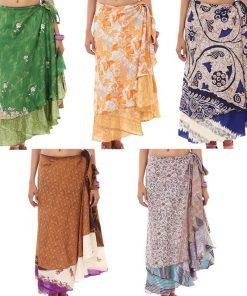Recycled Sari Wrap Skirt
