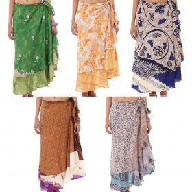 Recycled Sari Wrap Skirt