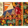 Indian Reversible Floral Kantha Throw