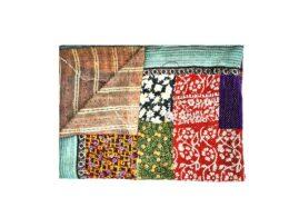 Heavy Fine Stitched Patchwork Kantha Quilt