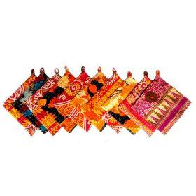 Boho Kantha Quilt Potholder Set of 10