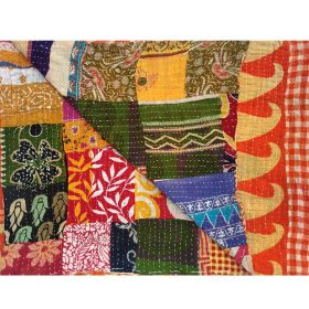 Paisley Queen Patchwork Kantha Quilt