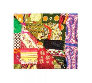 Paisley Boho Patchwork Kantha Blanket