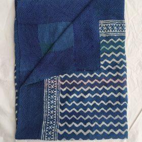 Indigo Pattern Vintage Kantha